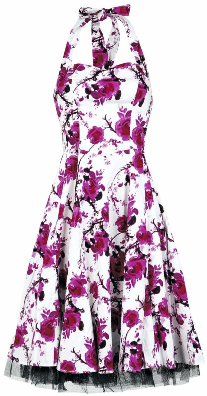 H&R London Pink Floral Dress Mittellanges Kleid weiß/pink