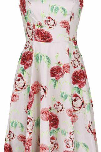 H&R London Roses Dress Mittellanges Kleid rosa