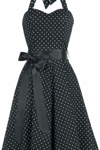 H&R London Small Dot Dress Mittellanges Kleid schwarz