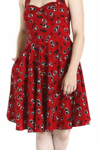 Hell Bunny Alison Mid Dress Mittellanges Kleid rot