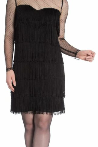 Hell Bunny Gin Rickey 1920's Dress Kurzes Kleid schwarz