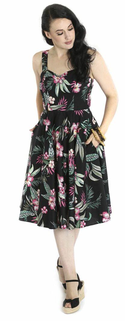 Hell Bunny Kalani 50's Dress Mittellanges Kleid schwarz