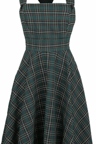 Hell Bunny Peebles Pinafore Dress Mittellanges Kleid grün