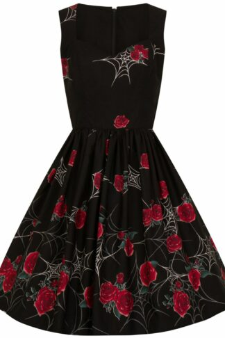 Hell Bunny Sabrina 50's Dress Mittellanges Kleid schwarz