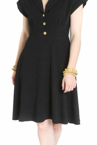 Hell Bunny Sahara Dress Mittellanges Kleid schwarz