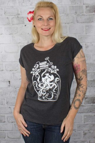 Rebel Rockers Girl Loosefit T-Shirt Oktopus von Rockabilly Rules