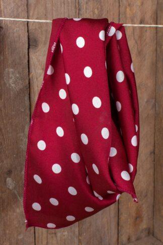 Rockabella Schal / Halstuch / Haarband Polkadot, rot weiß von Rockabilly Rules