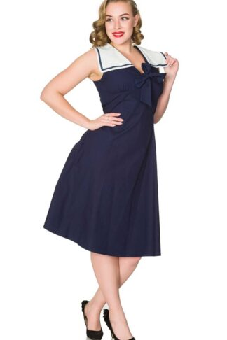 Sheen Clothing Sommer Kleid Ahoy Sailor Pam von Rockabilly Rules