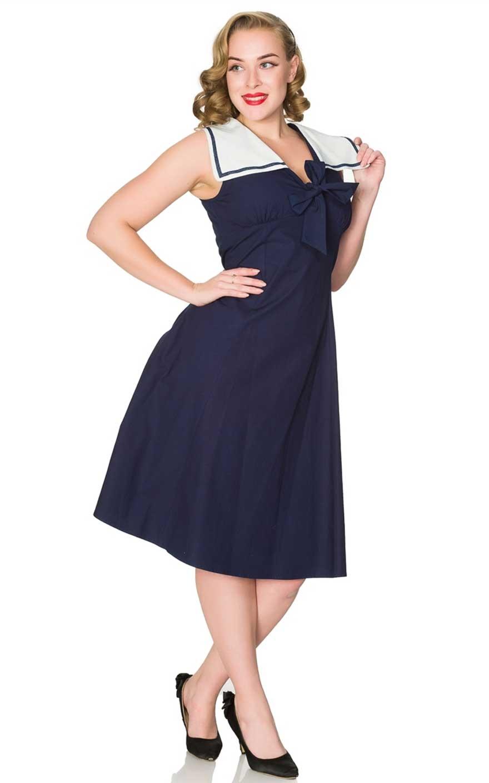 Sheen Clothing Sommer Kleid Ahoy Sailor Pam Von Rockabilly Rules Miss Mole