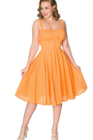 Sheen Clothing Sommer Kleid Orange von Rockabilly Rules