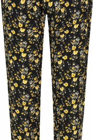 Sublevel Flowers Stoffhose schwarz