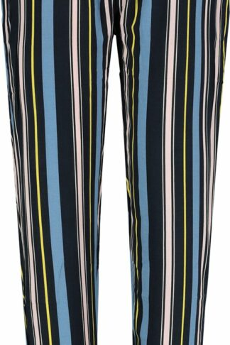 Sublevel Stripes Stoffhose navy