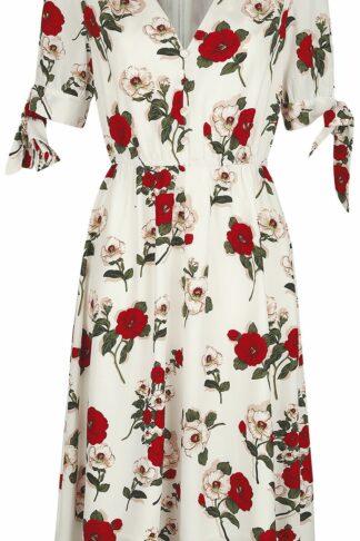 Voodoo Vixen Lorelei White Floral Dress Mittellanges Kleid weiß
