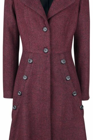 Voodoo Vixen Nicole Red 40s Style Coat Mantel bordeaux/schwarz