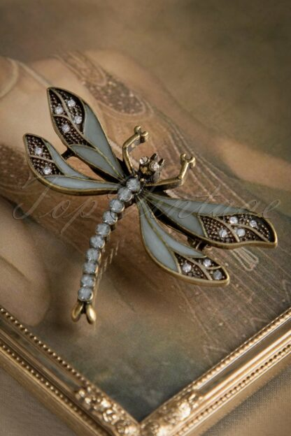 20s How To Train Your Dragonfly Brooch in Greyish Blue