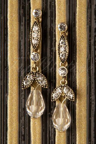 20s Lula Crystal Earrings in Gold