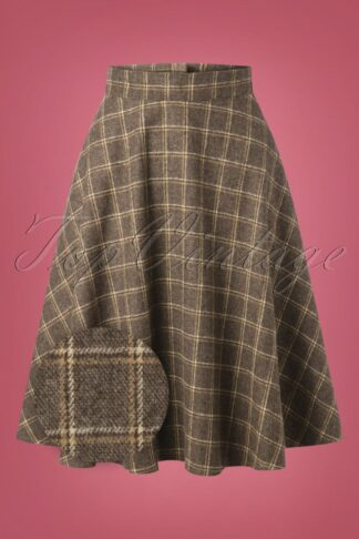 40s Another Fab Swing Skirt in Brown