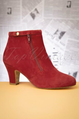 40s Ava Return To Sender Booties in Warm Red