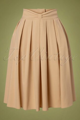40s Bliss Swing Skirt in Beige