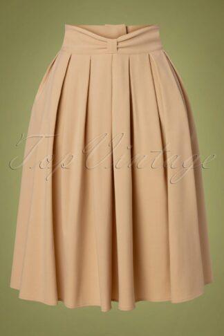 40s Bliss Swing Skirt in Beige