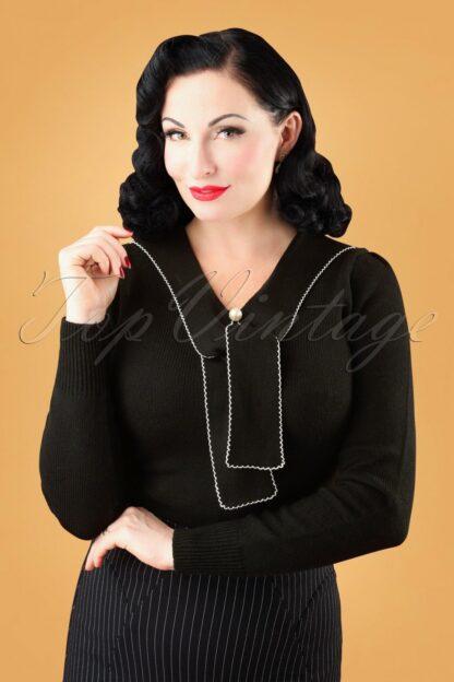 40s Connie Jumper in Black