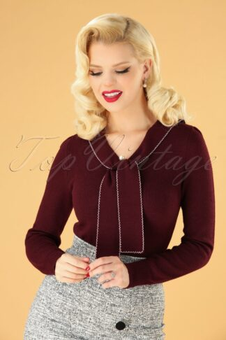 40s Connie Jumper in Burgundy
