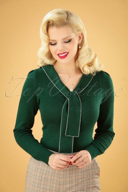 40s Connie Jumper in Dark Green