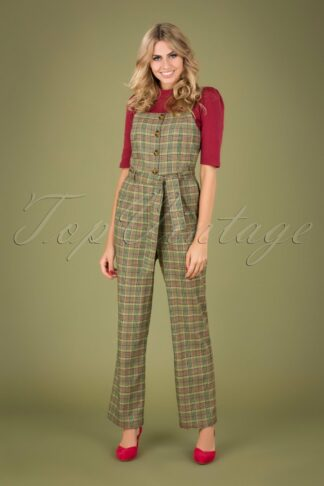 40s Ines Miso Jumpsuit in Brunette Brown