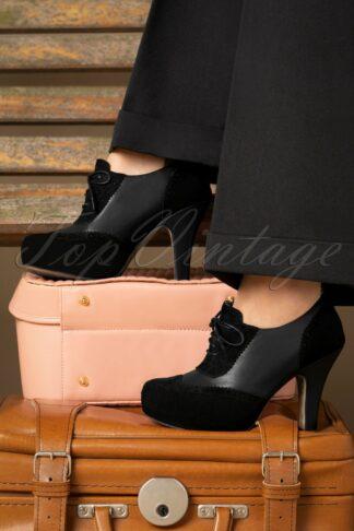 40s June On Track Shoe Booties in Black