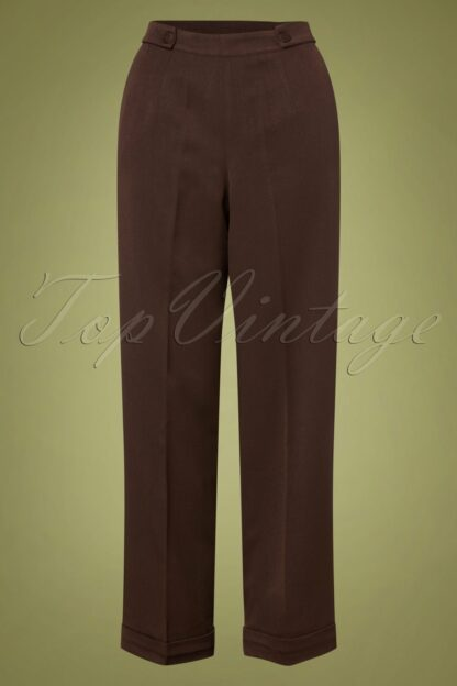 40s Party On Classy Trousers in Brown