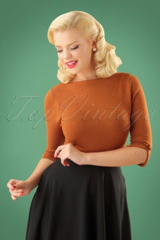 50s Addicted Sweater in Brown