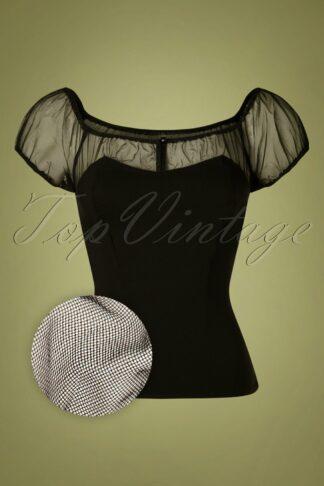 50s Alina Top in Black