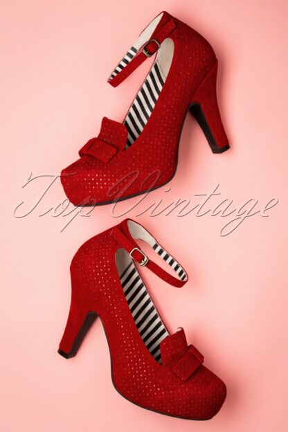 50s Angie Family Mary Jane Pumps in Red