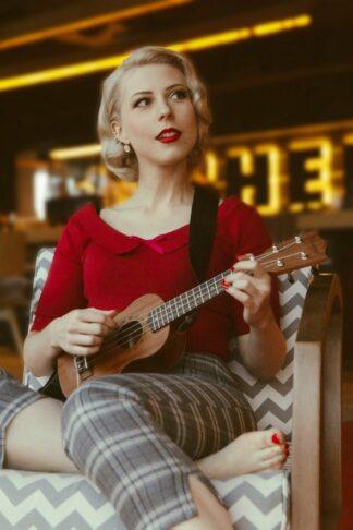 50s Babette Jumper in Red
