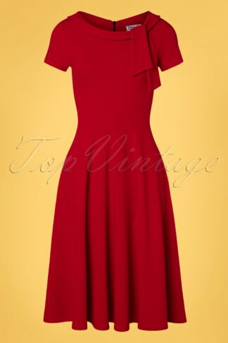 50s Beverly Swing Dress in Lipstick Red