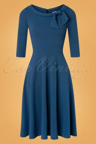 50s Beverly Swing Dress in Teal