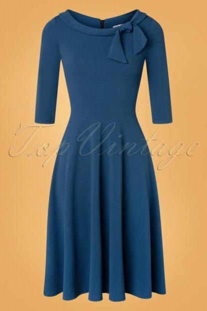 50s Beverly Swing Dress in Teal