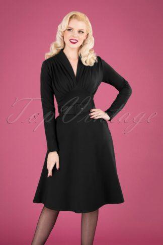 50s Claudia Swing Dress in Black