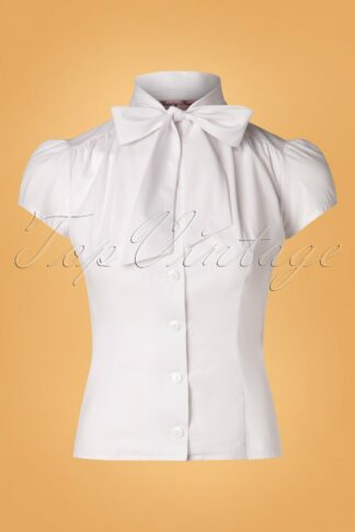 50s Estelle Blouse in White