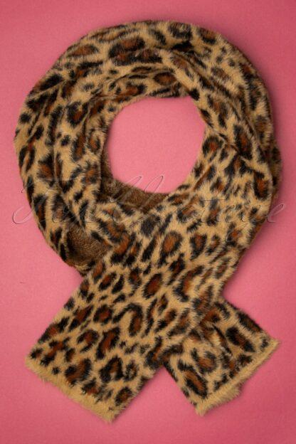 50s Felicia Scarf in Leopard