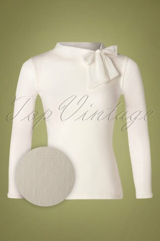 50s Imagine Top in Ivory