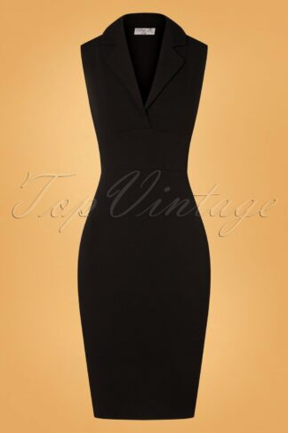 50s Jocelyn Pencil Dress in Black