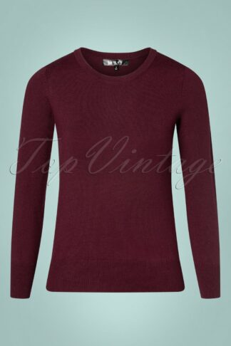 50s Kelly Sweater in Burgundy