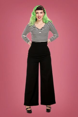 50s Kiki High Waisted Jeans in Black