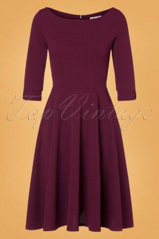50s Lauriana Swing Dress in Berry Purple