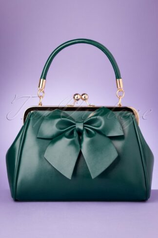 50s Lockwood Bow Handbag in Green