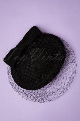 50s Shamira Fascinator in Black