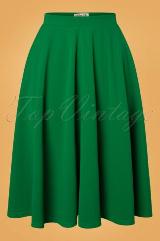 50s Sheila Swing Skirt in Emerald Green