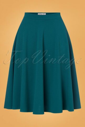 50s Sheila Swing Skirt in Teal