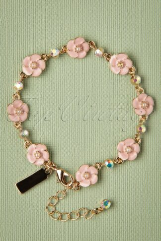 50s Small Rose Bracelet in Soft Pink